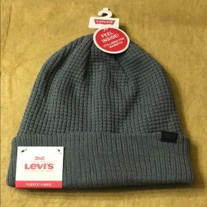 NWT Levi's Fleece-Lined Olive Green Hat